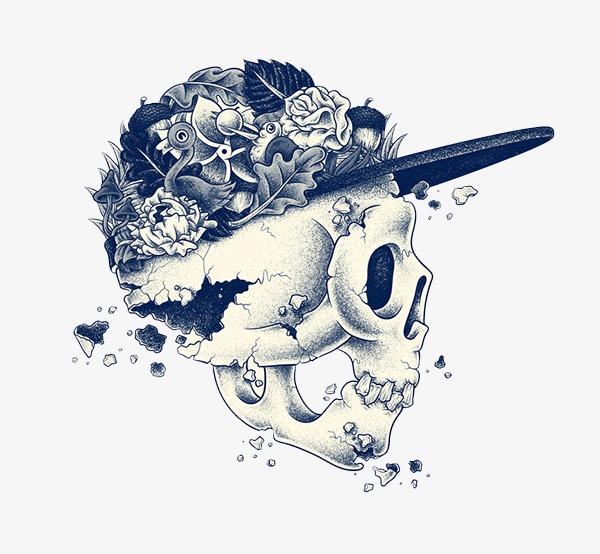 手绘帽子骷髅图案