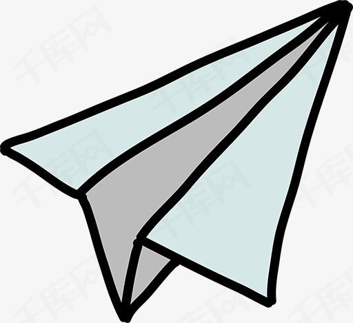 简笔画纸飞机素材图片免费下载 高清卡通手绘png 千库网 图片编号4176254