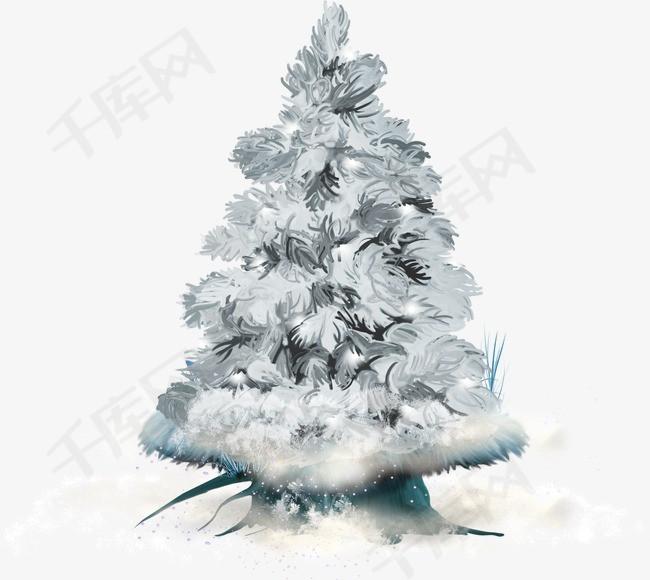 冰雪覆盖的松树