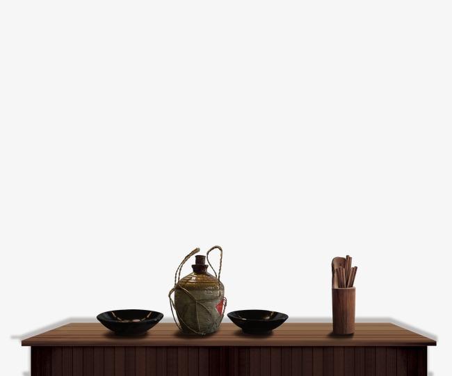古代桌子酒壺