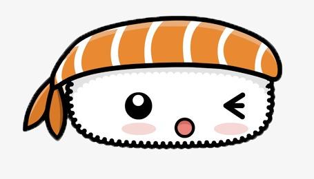 卡通三文鱼寿司