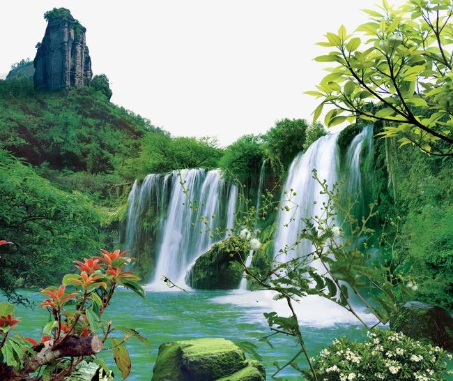 壁纸 风景 旅游 瀑布 山水 桌面 650_546