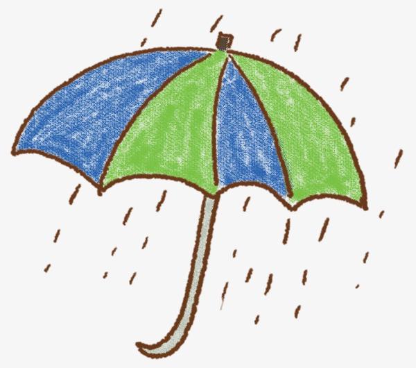 卡通手绘雨伞