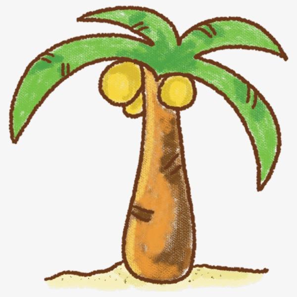 卡通手绘椰子树图片