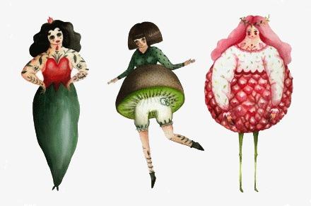 水果手绘插画