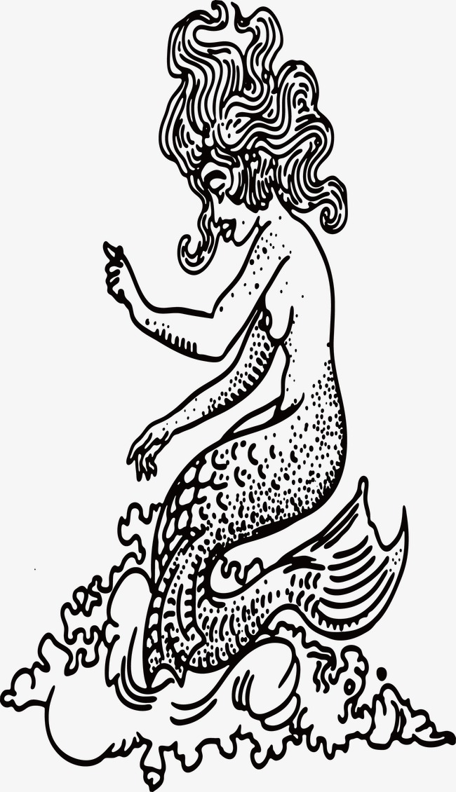 手绘美人鱼
