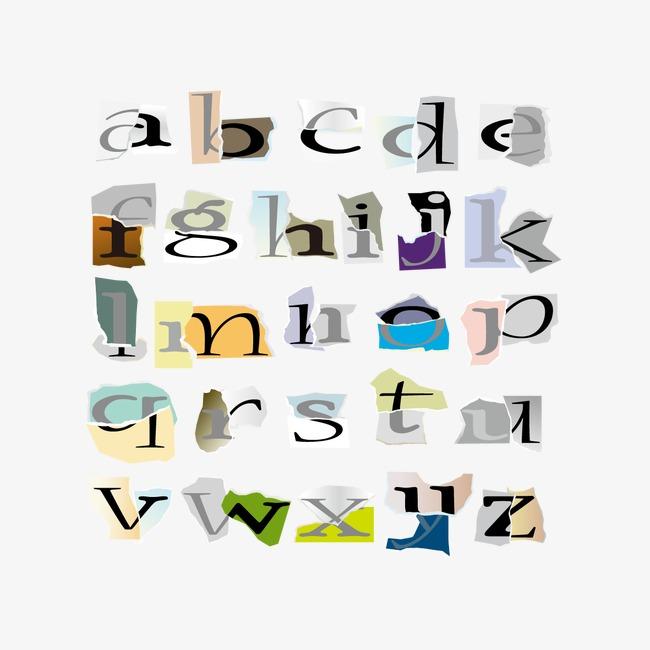 矢量创意26个字母