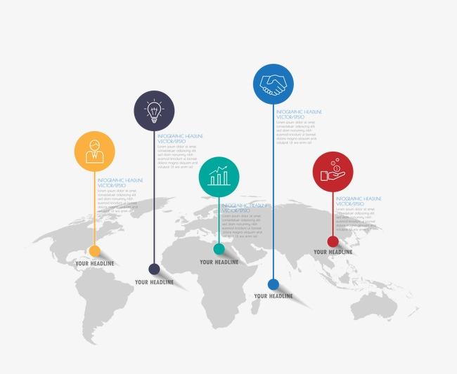 矢量时间轴世界地图素材图片免费下载_高清图片pngpsd