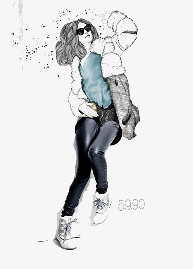 手绘时尚3d立体画【高清漂浮元素png素材】-90设计