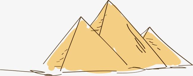 手绘卡通金字塔