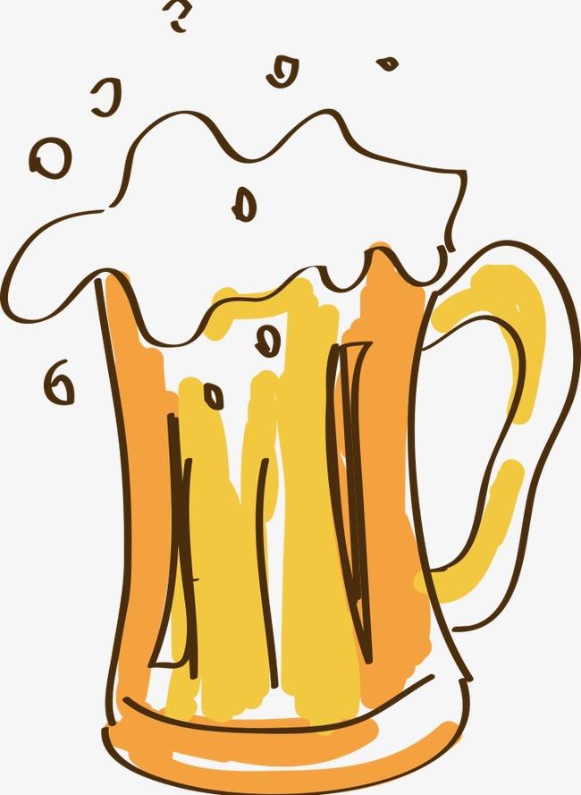 手绘卡通啤酒