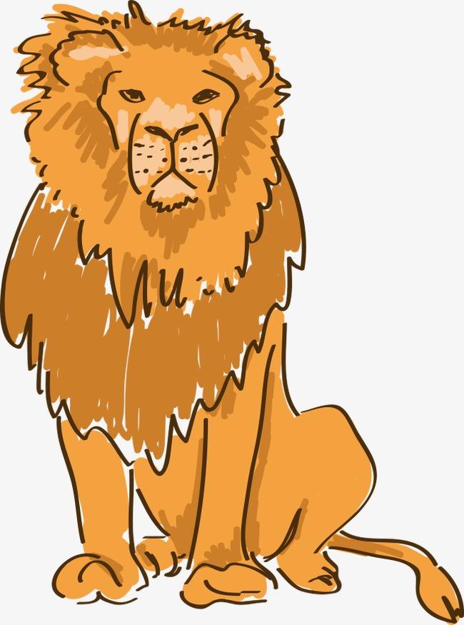 卡通手绘狮子