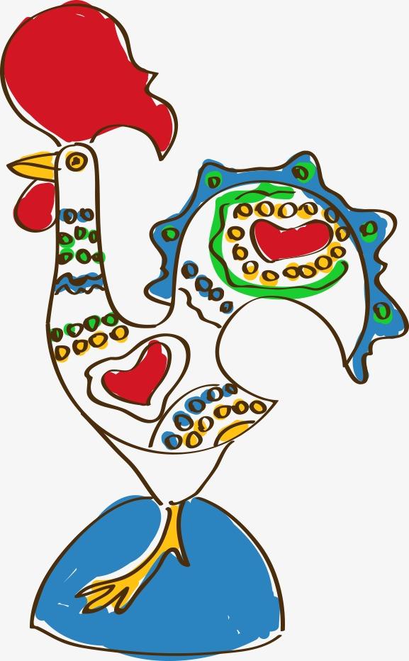 卡通手绘大公鸡
