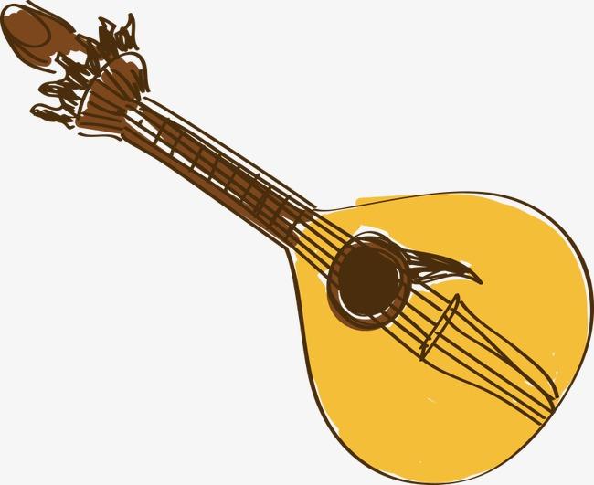 卡通手绘吉他