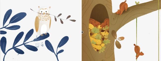 手绘插画卡片封面 创意设计             此素材是90设计网官方设计图片