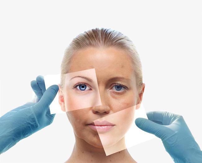 脸部护理女模特
