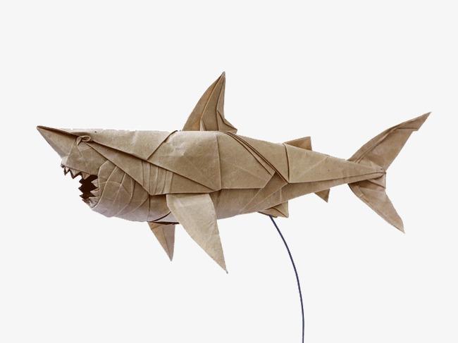 大鲨鱼折纸艺术