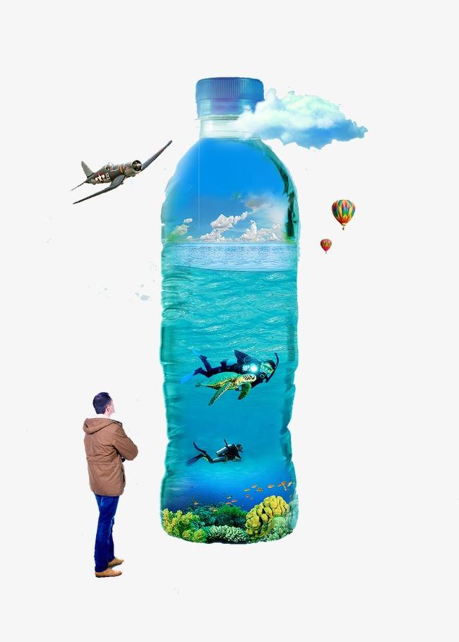 创意矿泉水瓶