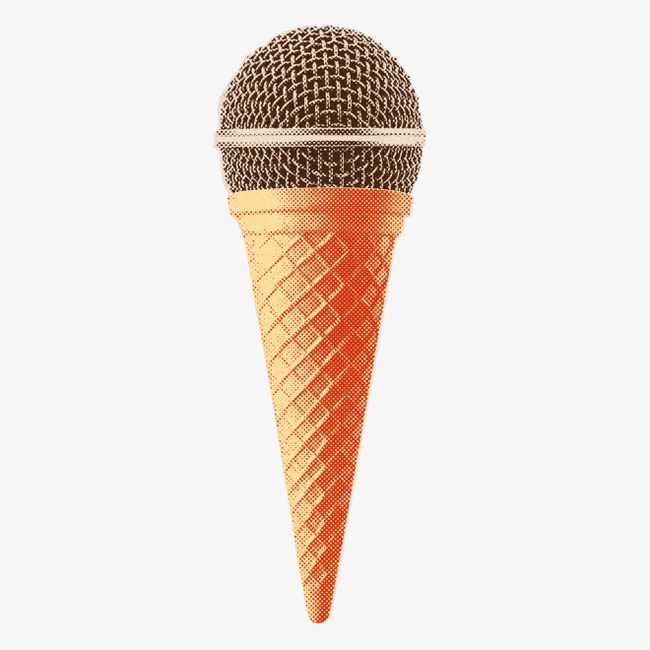 创意冰淇淋话筒图片