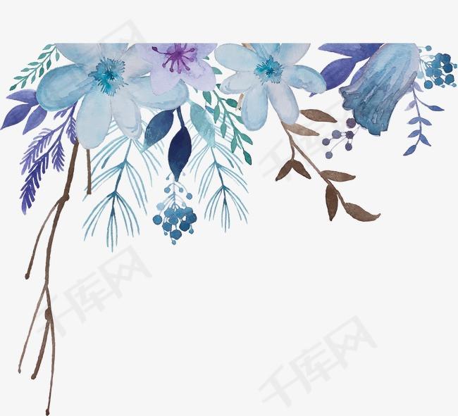 彩绘花卉装饰图案水彩花纹图案绘画书法干笔画花纹手绘花纹图案家纺图案图案设计墙纸图案简洁图案装饰花纹