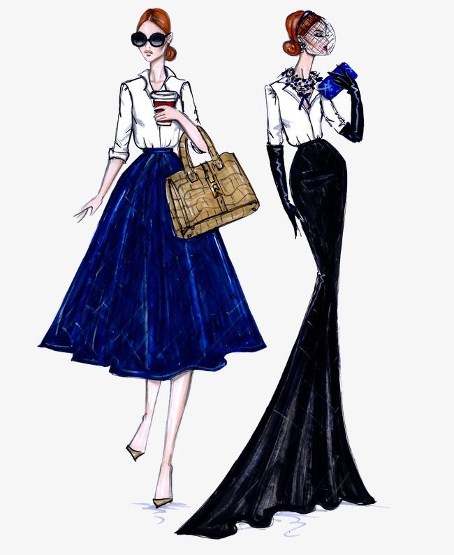 服装设计图 裙子 手绘