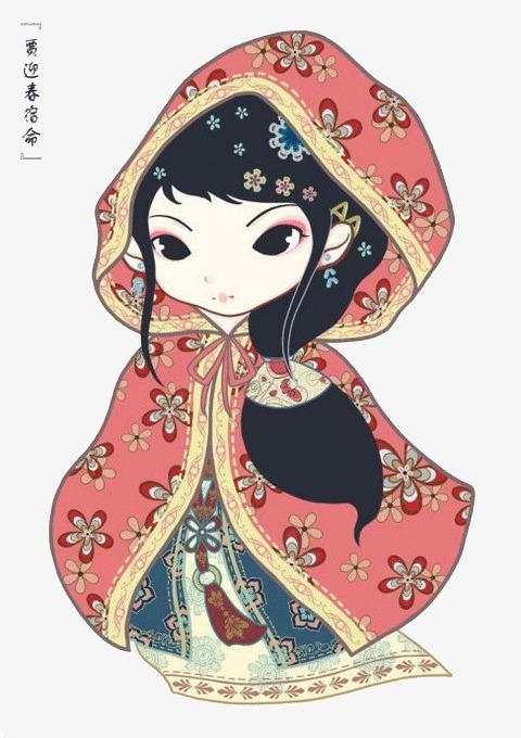 90设计提供高清png手绘动漫素材免费下载,本次q版金陵十二钗贾迎春
