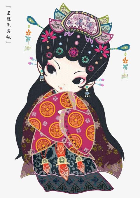 Q版金陵十二钗王熙凤素材图片免费下载 高清卡通手绘png 千库网 图片编号4247271