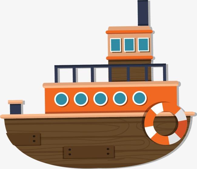 卡通背景_卡通轮船png素材-90设计图片