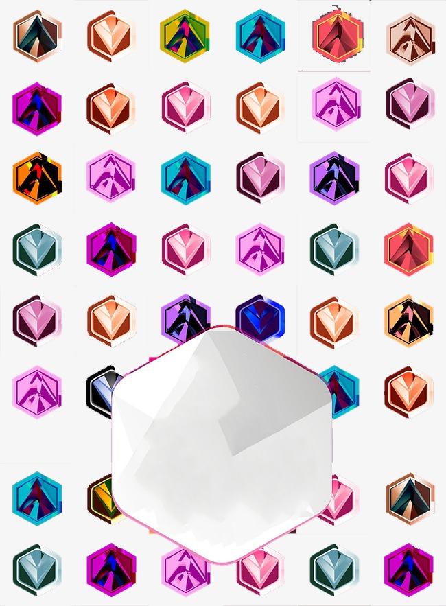 图片 > 【png】 六边形几何图标  分类:动物 类目:其他 格式:png 体积