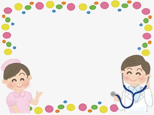 卡通人物护士和医生图片