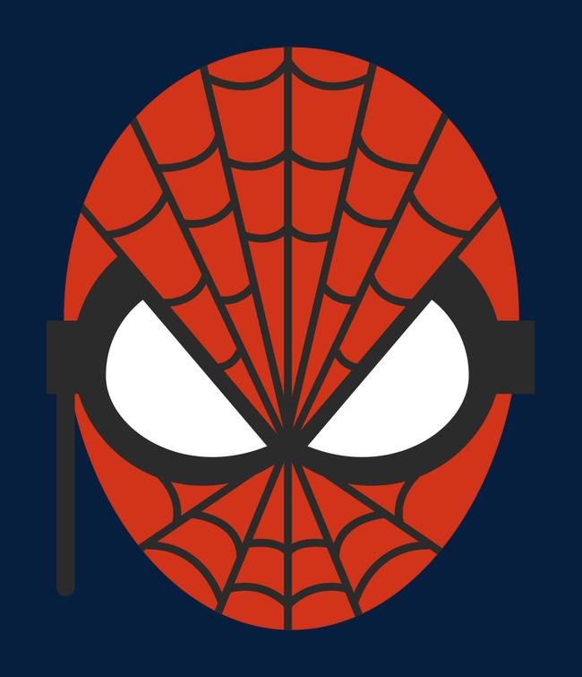 矢量 卡通手绘 蜘蛛侠面具图片