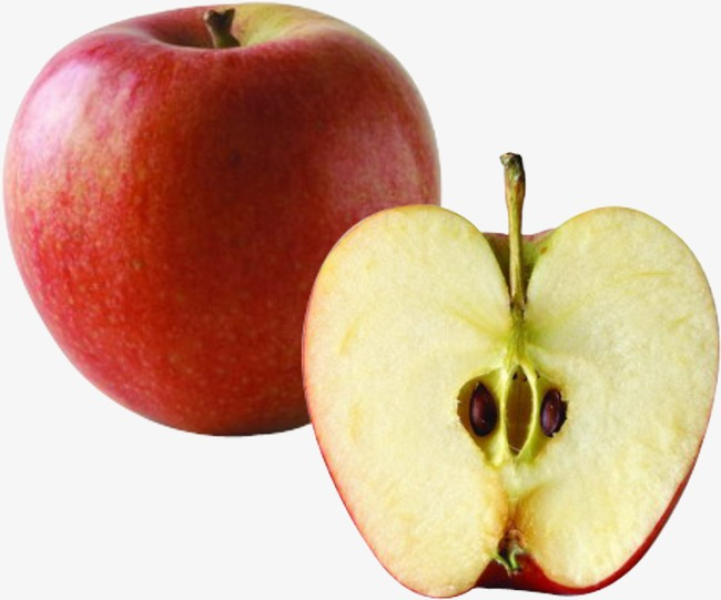 切开的红苹果图片