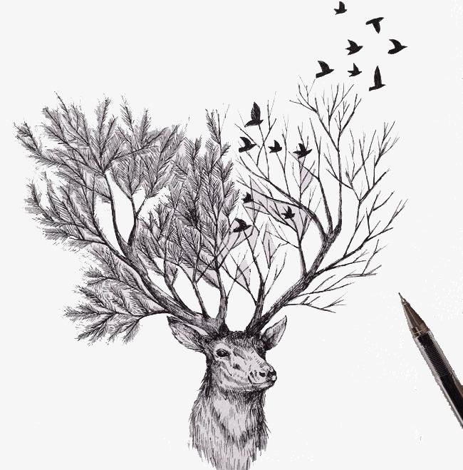 创意素描铅笔画创新