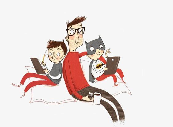 图片 卡通背景 > 【png】 卡通父子  分类:手绘动漫 类目:其他 格式