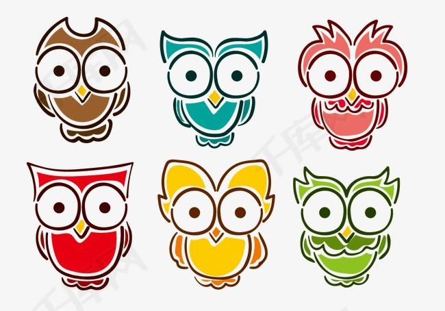 可爱简笔画猫头鹰素材图片免费下载 高清psd 千库网 图片编号4279089