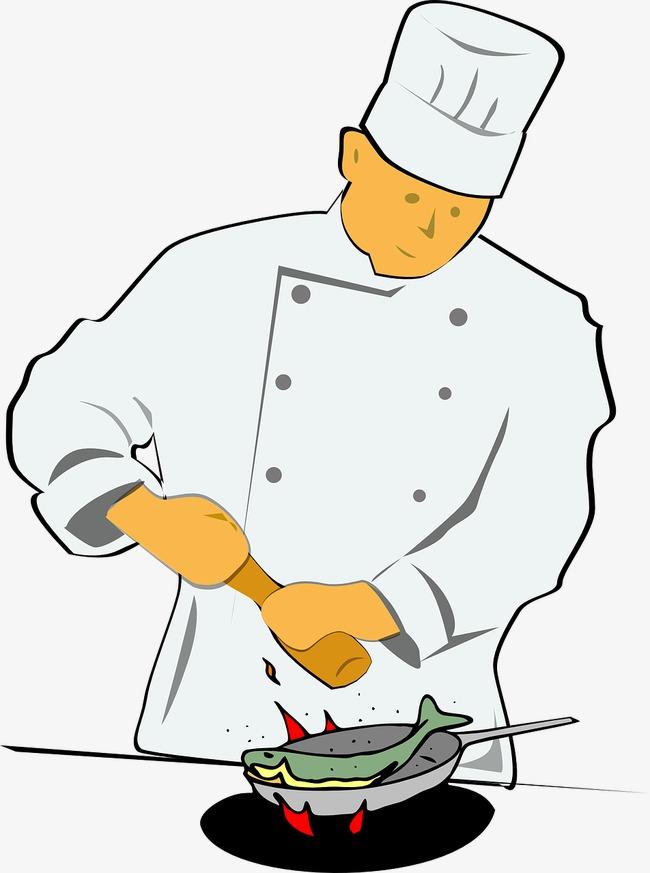厨师漫画手绘 力挺武汉抗疫漫画手绘图片