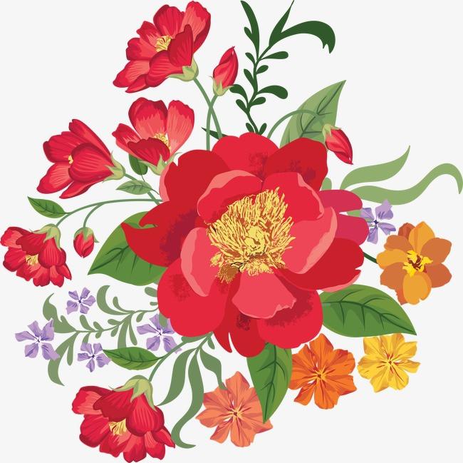 图片 > 【png】 手绘水彩红色花卉  分类:手绘动漫 类目:其他 格式