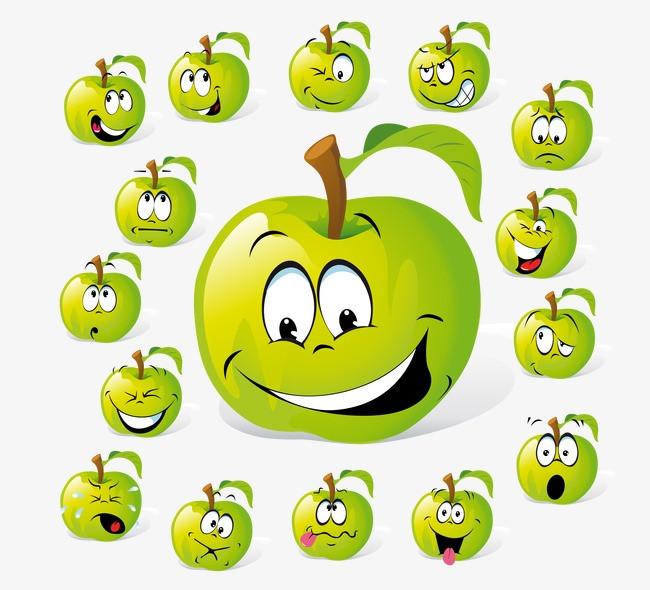 卡通苹果表情图片