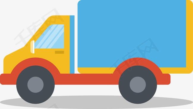 大货车矢量图简笔画车子运货-大货车矢量图素材图片免费下载 高清装