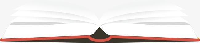 打开的书本矢量图