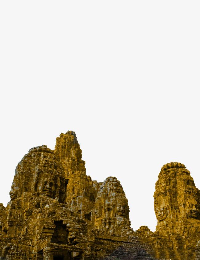缅甸风景石山佛像【高清png素材】-90设计
