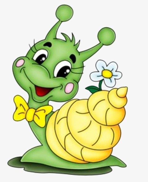可爱手绘蜗牛
