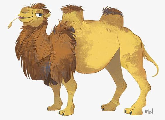 手绘骆驼 卡通骆驼 动物 沙漠             此素材是90设计网官方图片