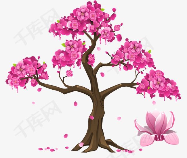 手绘日本樱花素材图片免费下载 高清卡通手绘png 千库网 图片编号4316075