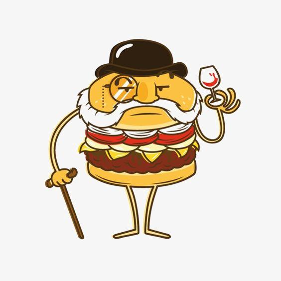 创意汉堡 手绘汉堡 卡通汉堡 快餐             此素材是90设计网