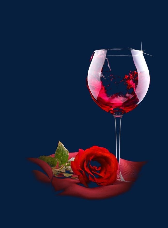 红酒酒杯玫瑰图