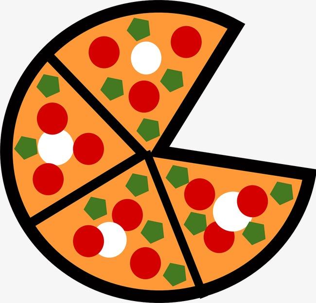 圆形披萨简笔画