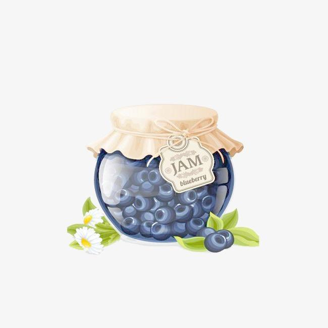 手绘蓝莓酱