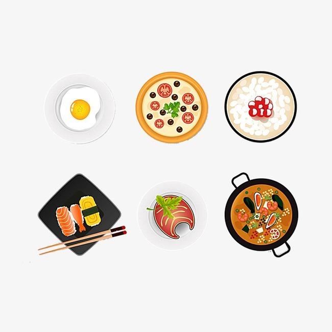 手绘日式食物