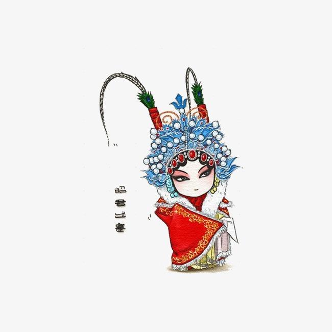 京剧 中国风 手绘             此素材是90设计网官方设计出品,均做